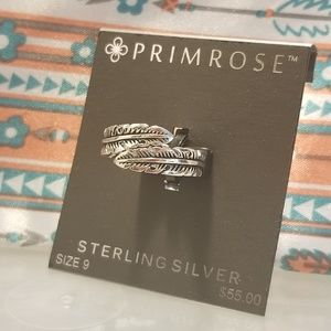 Sterling Silver size 9 Feather Ring